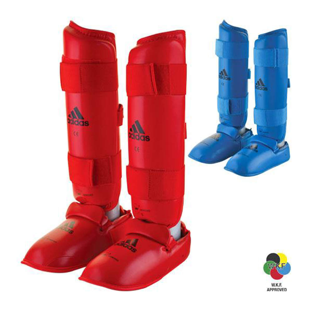 Picture of adidas WKF karate shin and foot protectors