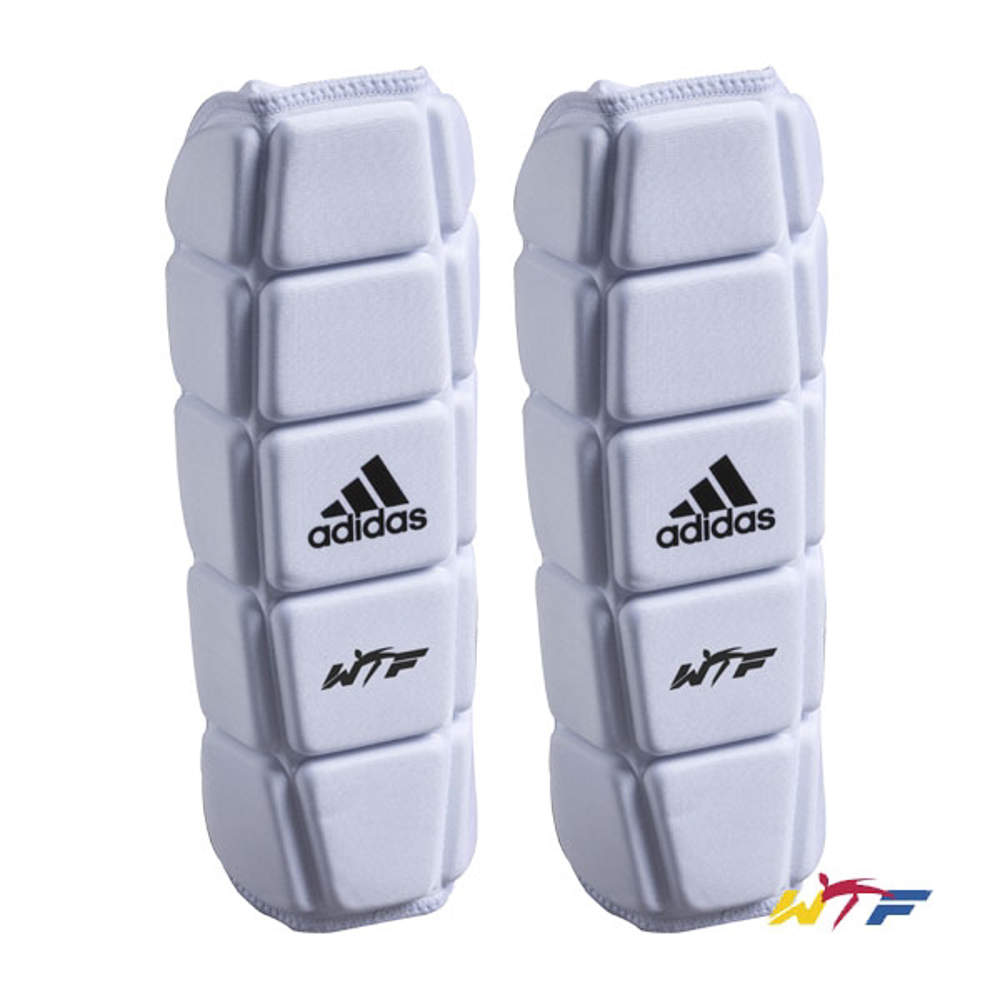 Picture of adidas forearm protectors approved by the World Taekwondo Federation, WTF