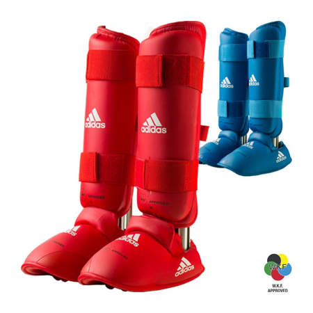 Picture of adidas WKF karate shin and foot protectors - Tokyo