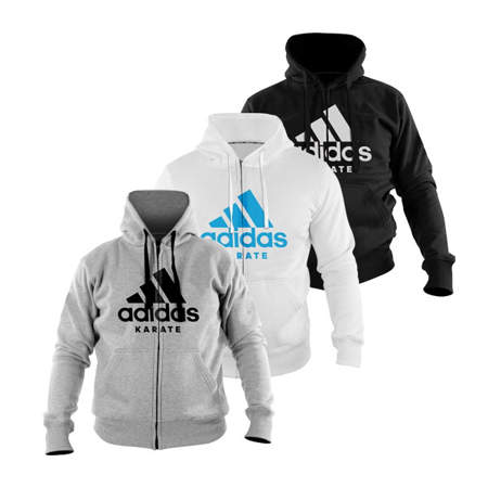 Picture of adidas karate shirt/jacket with a hood